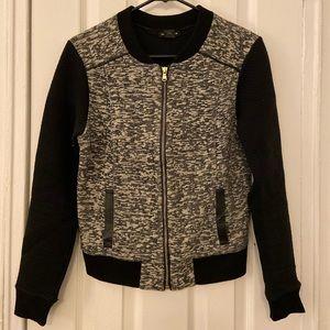 Club Monaco bomber jacket (black/white)